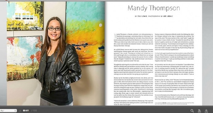 Mandy Thompson Golden Isles Magazine Artist Article Mixed Media